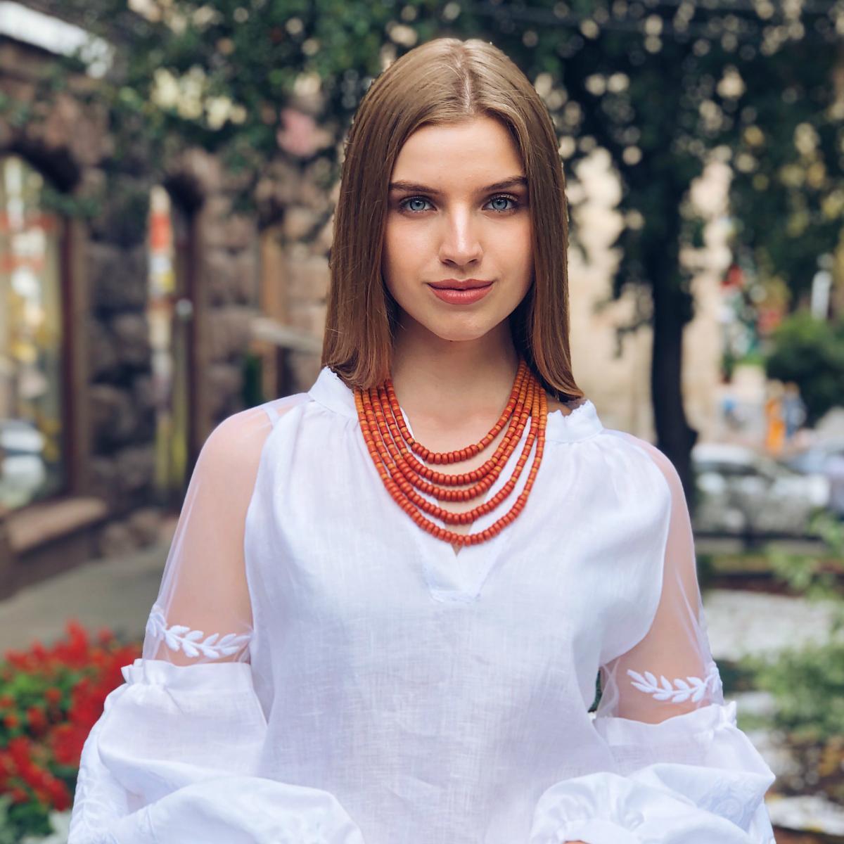 Керамическое этническое ожерелье. Фото №1.   Народный дом Украина