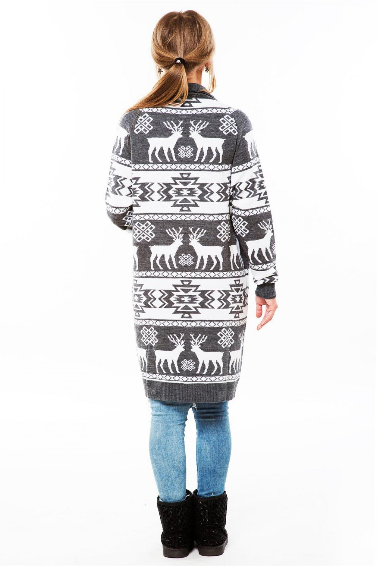 Female gray knitted cardigan. Photo №2. | Narodnyi dim Ukraine