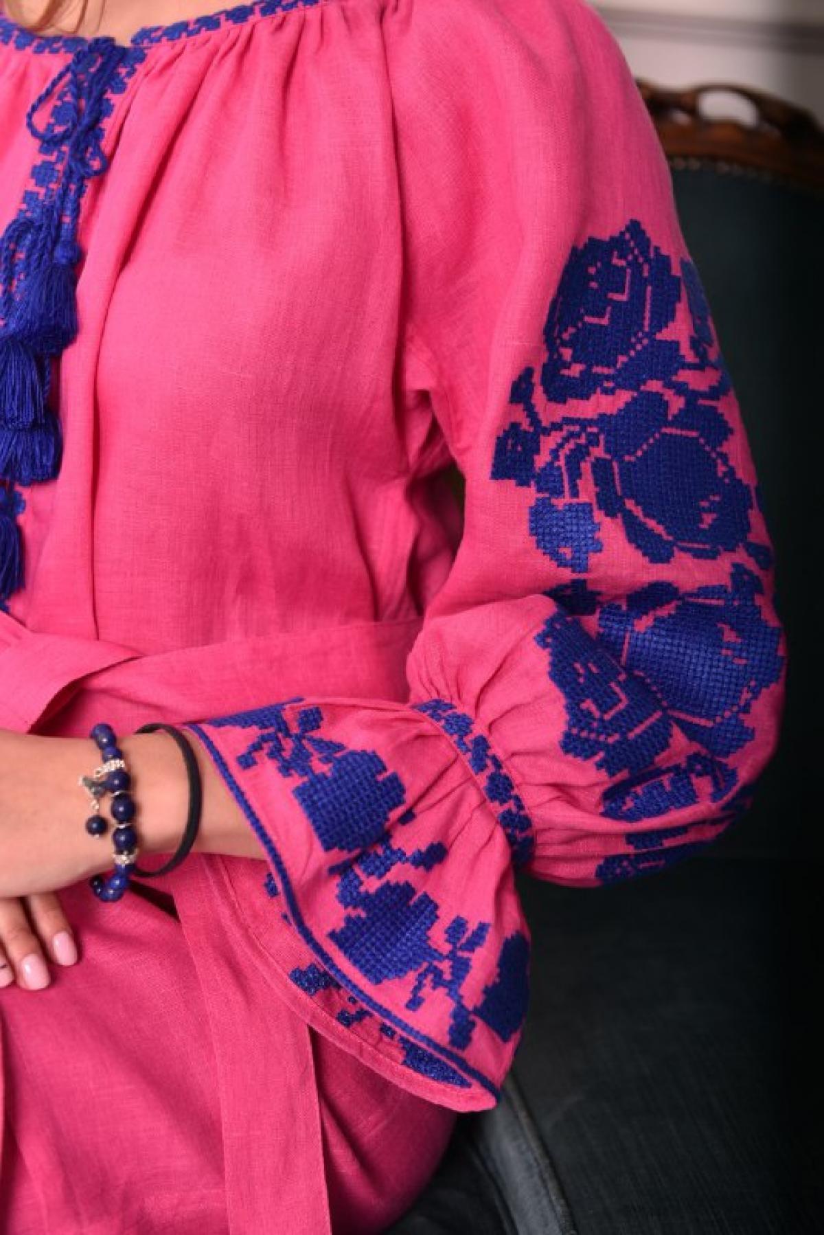 Браслет из натурального лазурита, синий. Фото №2. | Народный дом Украина