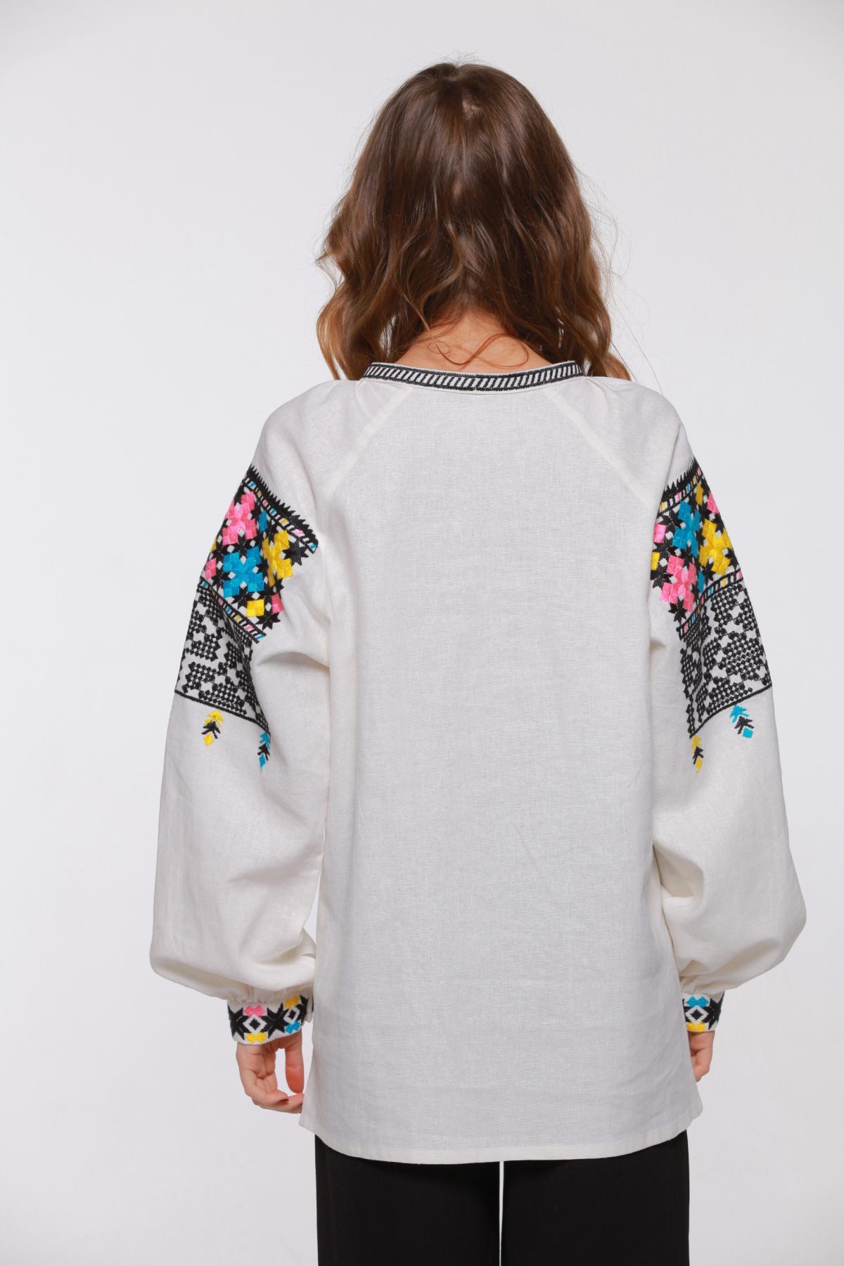 White linen embroidery with Podillya embroidery. Photo №2. | Narodnyi dim Ukraine