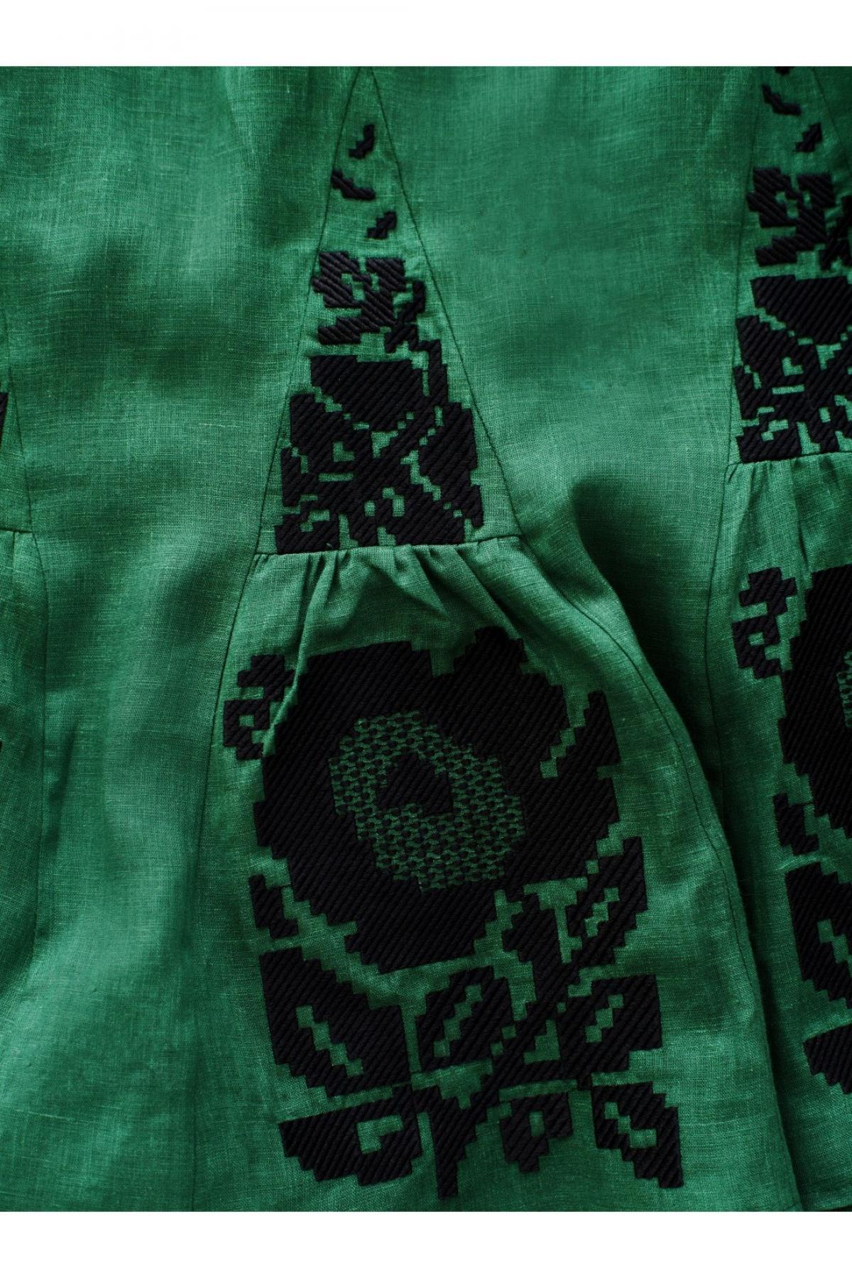 Оливково-зелена вишита сукня. Фото №4. | Народний дім Україна