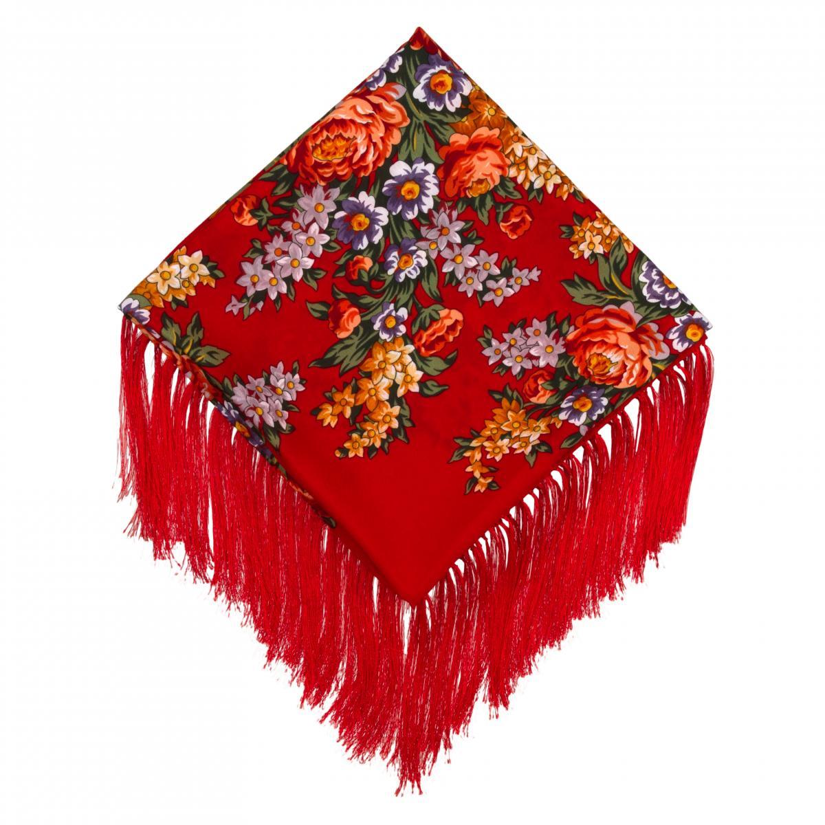Красный платок с цветами. Фото №3. | Народный дом Украина