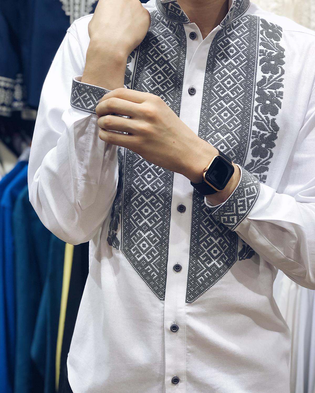 Белая мужская вышиванка. Фото №1. | Народный дом Украина