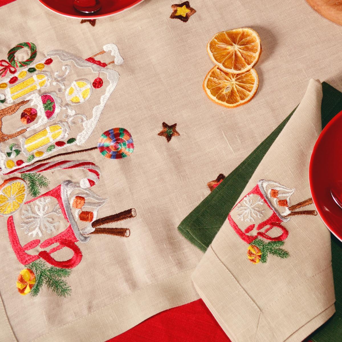 Дорожка (раннер) Льняная на стол Вкус Рождества. Фото №2. | Народный дом Украина
