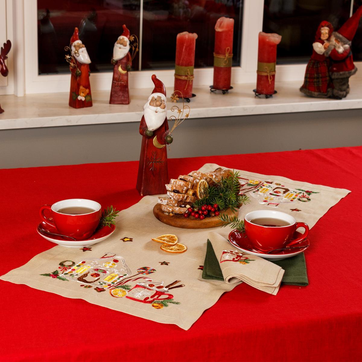 Дорожка (раннер) Льняная на стол Вкус Рождества. Фото №3. | Народный дом Украина