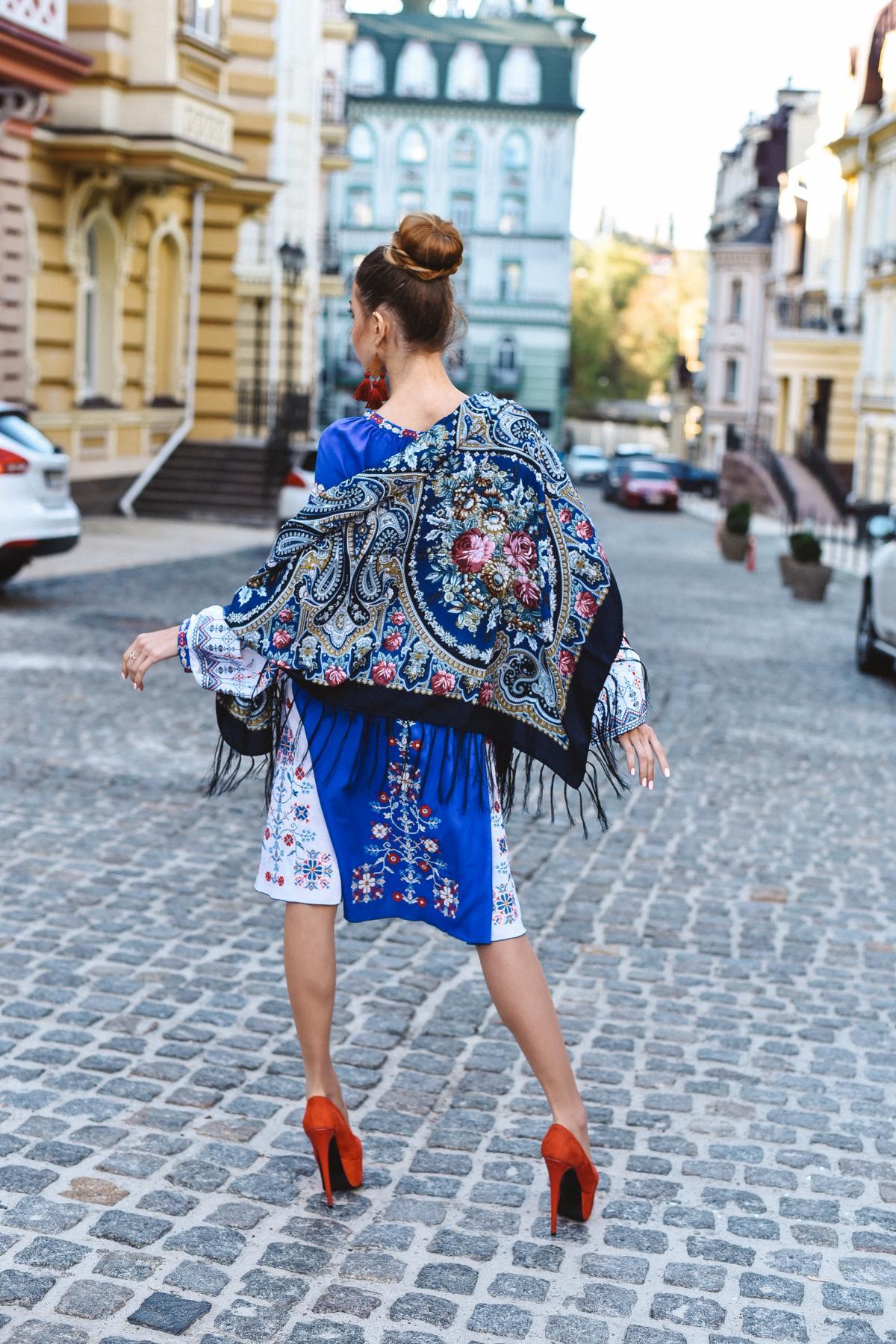 Платок темно-синяя. Фото №1. | Народный дом Украина