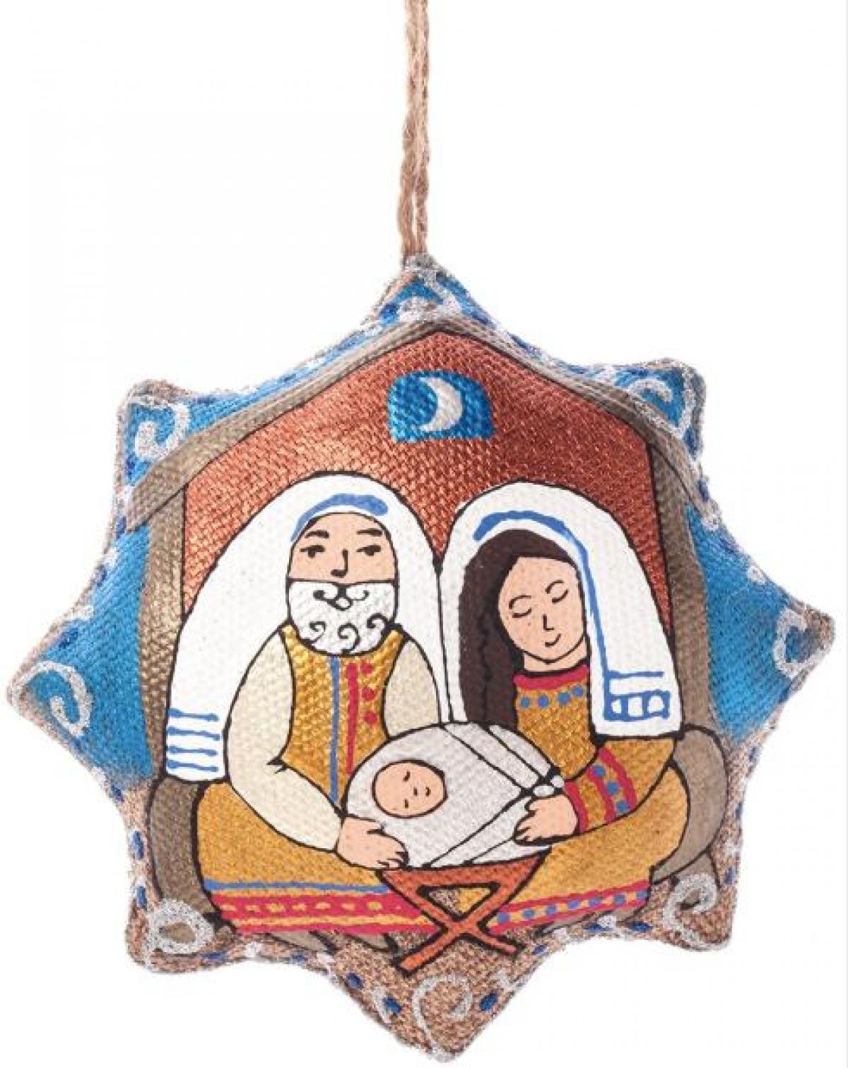 Игрушка звезда Рождественская «Святое Семейство»