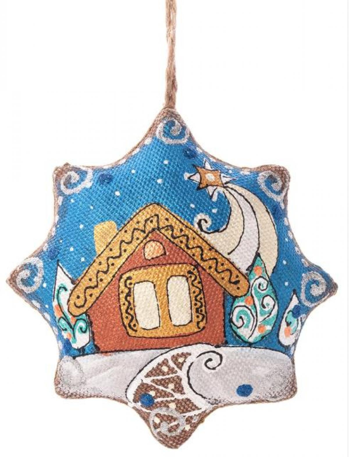 Игрушка звезда Рождественская «Вечерняя звезда»