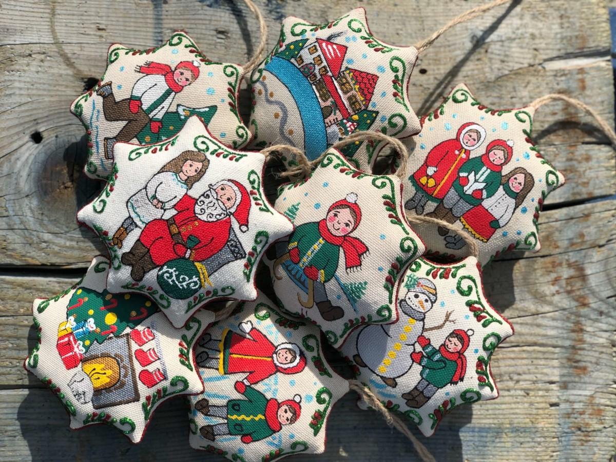 Игрушка Рождественская звезда Ванильная. Фото №2. | Народный дом Украина