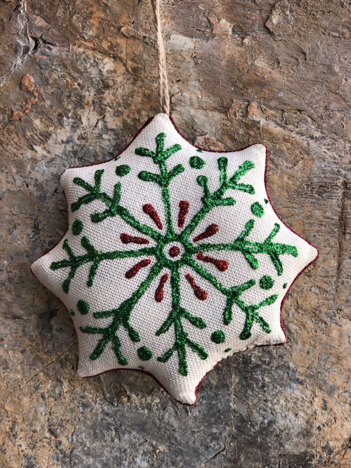 Игрушка Рождественская звезда Ванильная. Фото №3. | Народный дом Украина