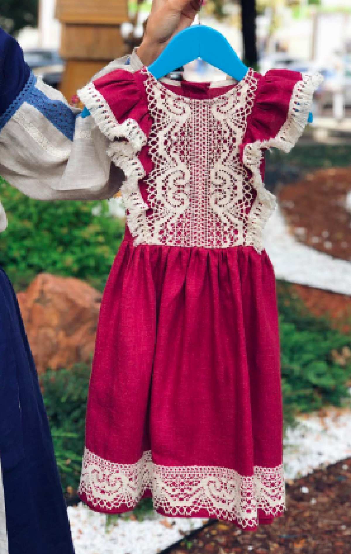 Childish delicate blackberry dress with lace. Photo №1. | Narodnyi dim Ukraine