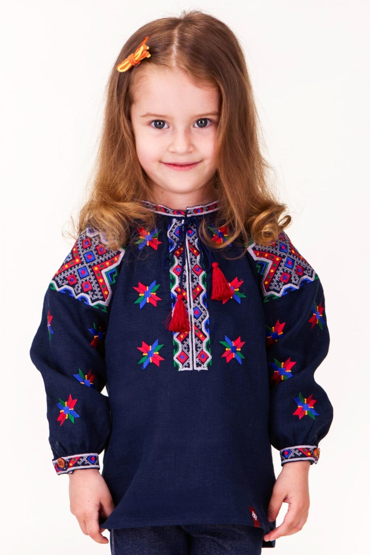 Embroidery for the girl, blue. Photo №1. | Narodnyi dim Ukraine