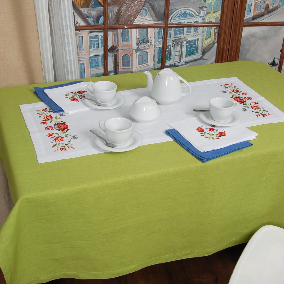 Льняная дорожка на стол Дерево жизни 90*40. Фото №3. | Народный дом Украина