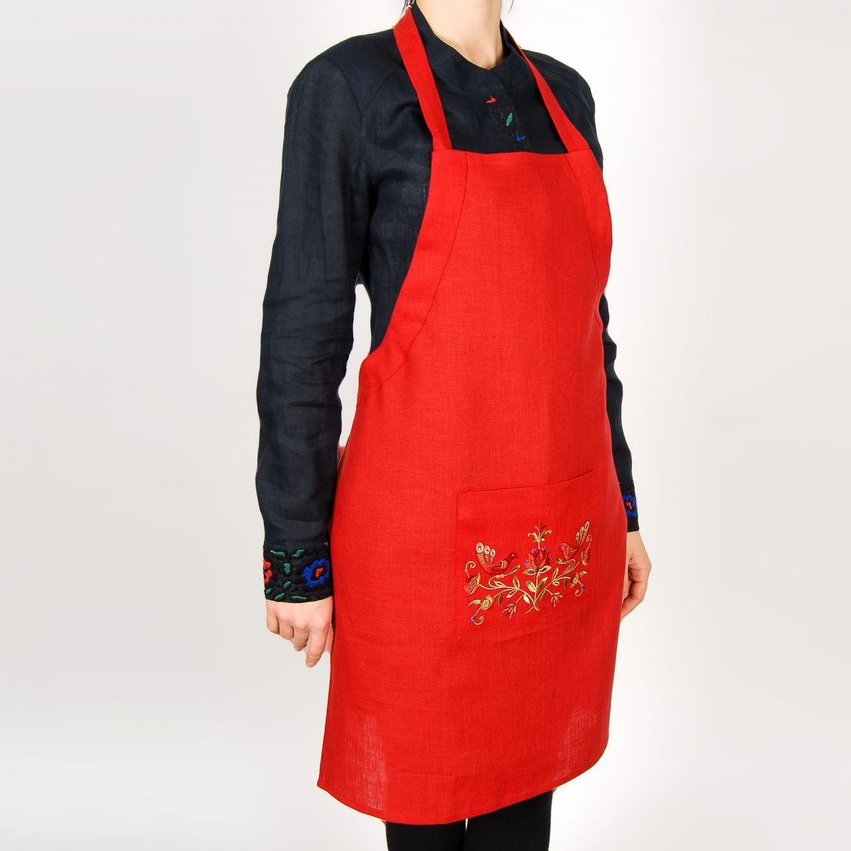 Apron for your kitchen with embroidery