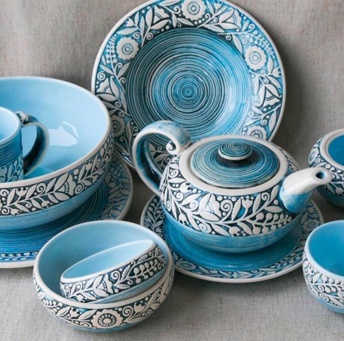 Blue cup – 400 ml. Photo №2. | Narodnyi dim Ukraine