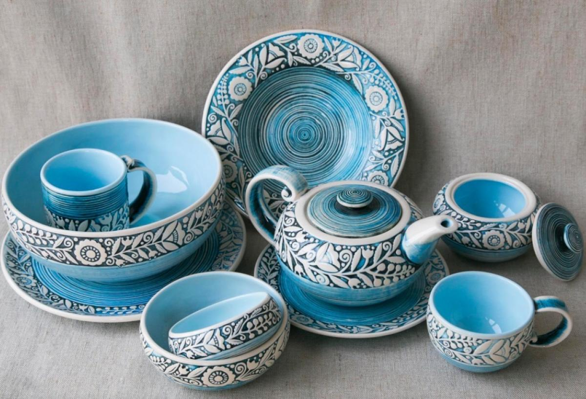 Blue cup – 400 ml. Photo №3. | Narodnyi dim Ukraine