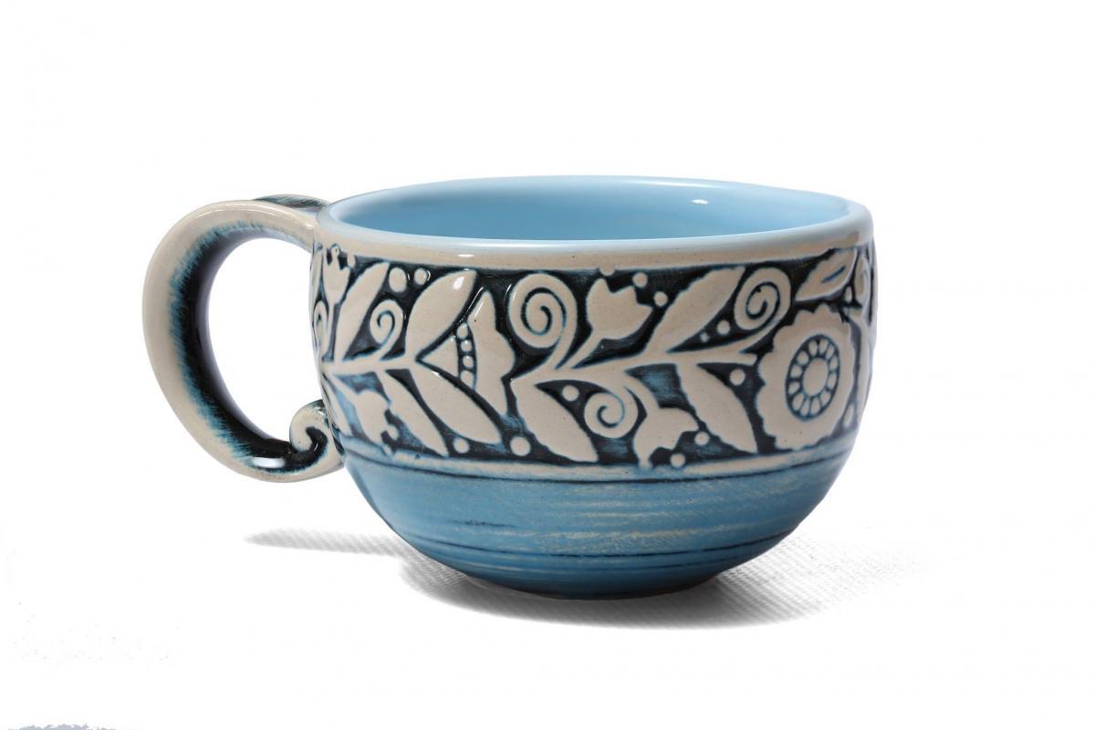 Чашка голуба 300 мл. Фото №1. | Народний дім Україна
