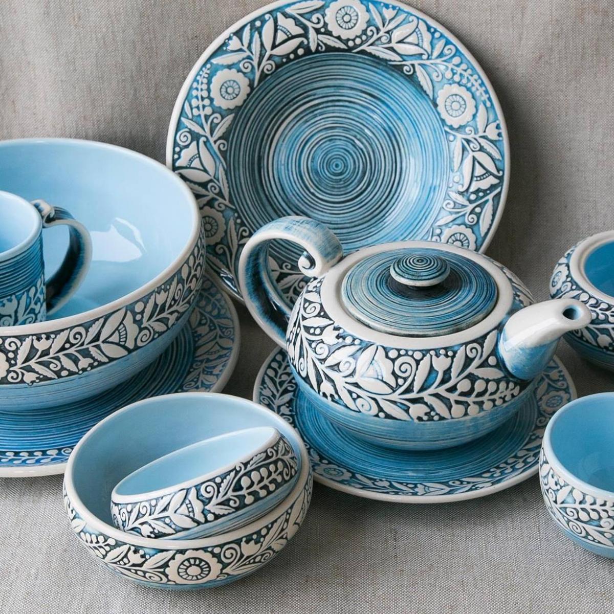 Супова тарілка – 350 мл, Небесно-блакитний колір. Фото №3. | Народний дім Україна