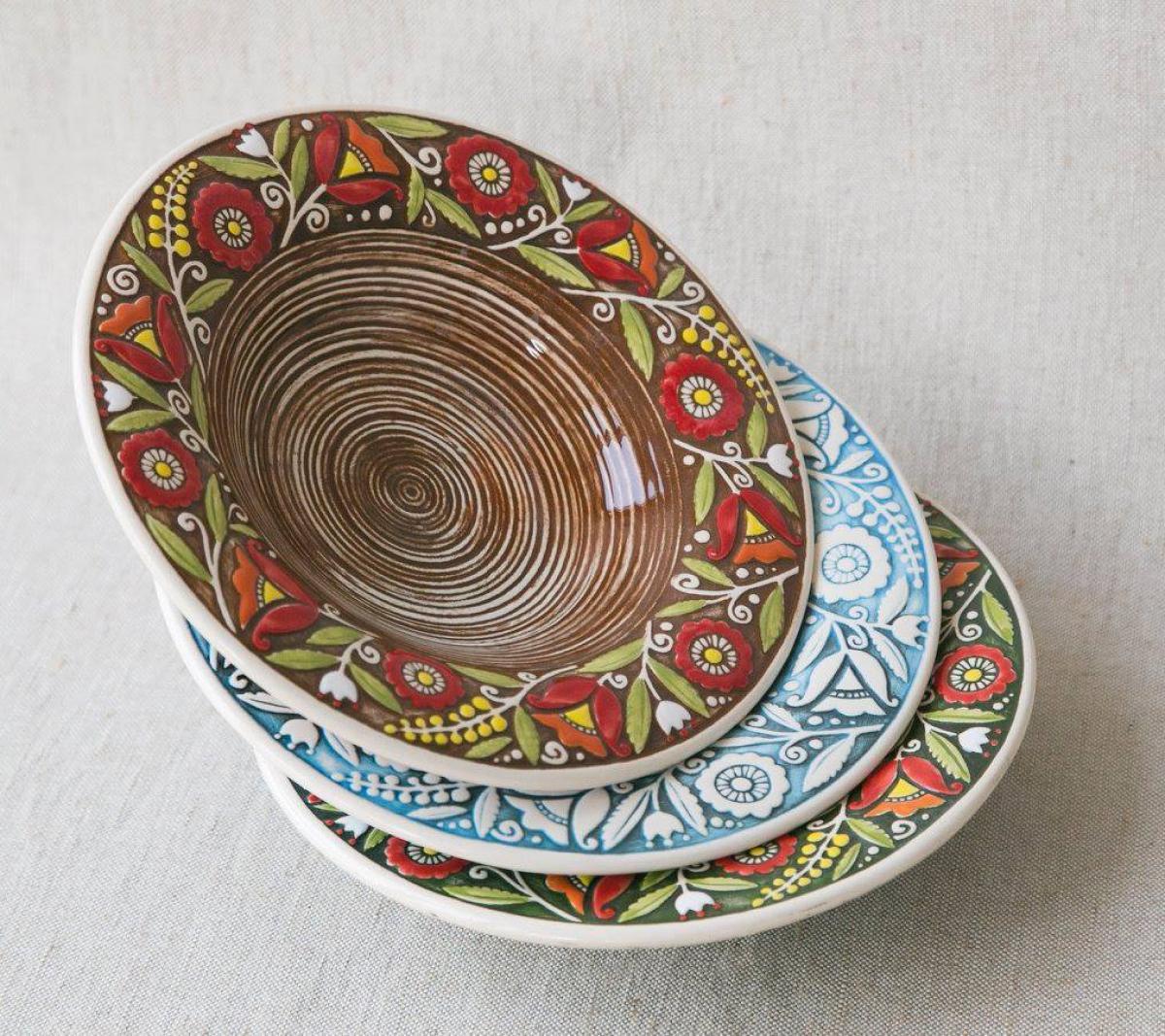 Супова тарілка – 350 мл, Небесно-блакитний колір. Фото №4. | Народний дім Україна