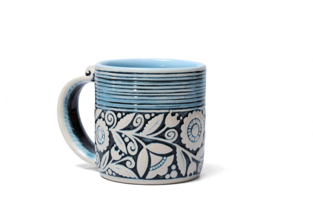 Blue cup – 400 ml. Photo №1. | Narodnyi dim Ukraine