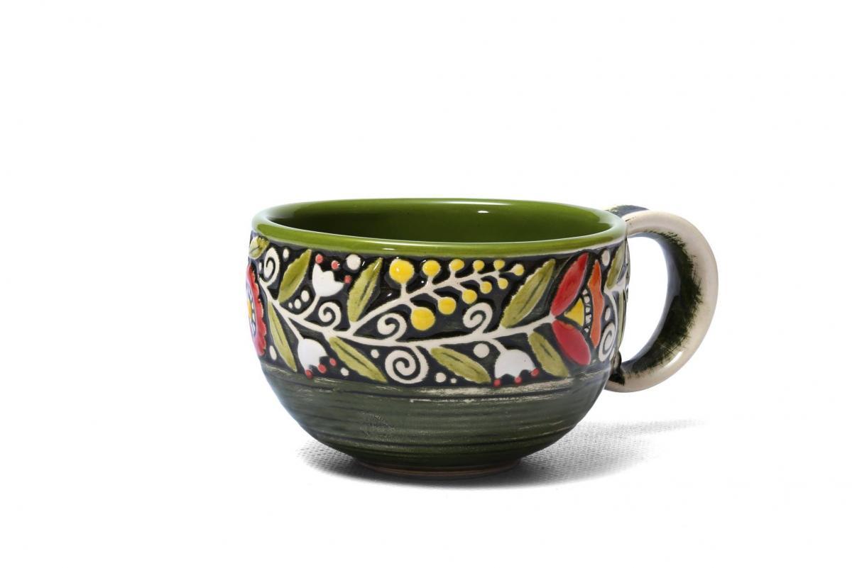 Чашка зеленая - 300 мл. Фото №1. | Народный дом Украина