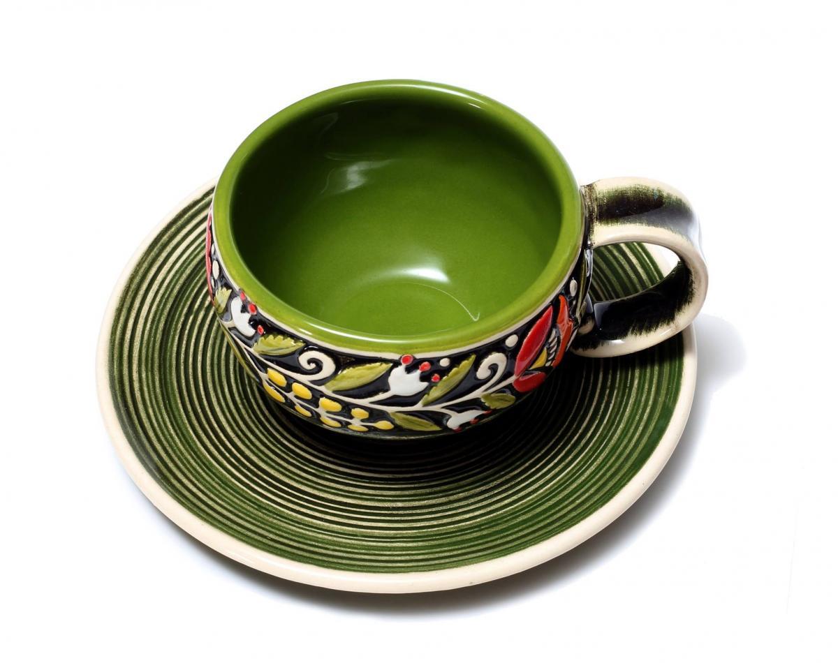 Coffee cup green. Photo №1. | Narodnyi dim Ukraine