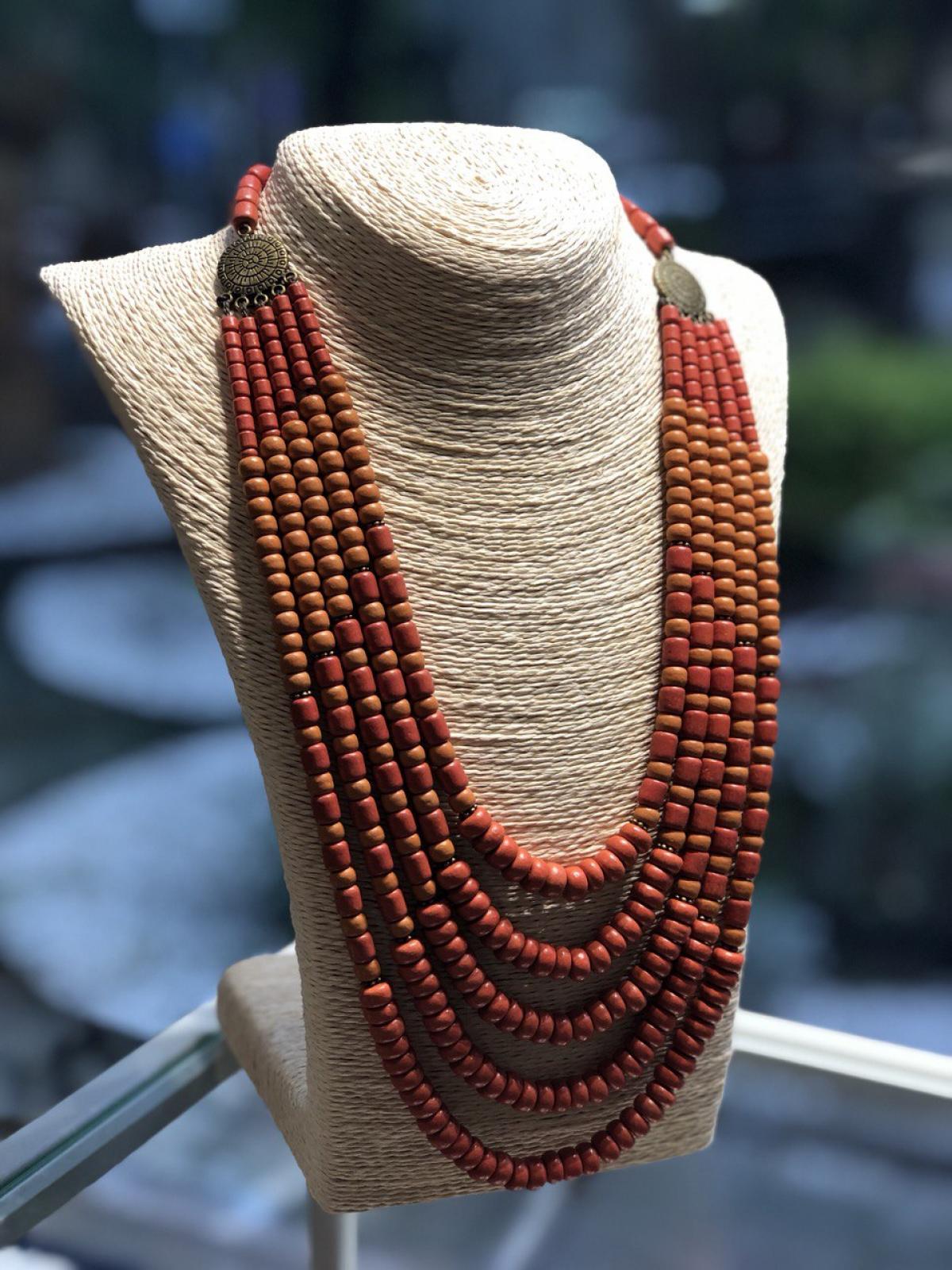 Ожерелье керамическое, 5 рядов,. Фото №1. | Народный дом Украина