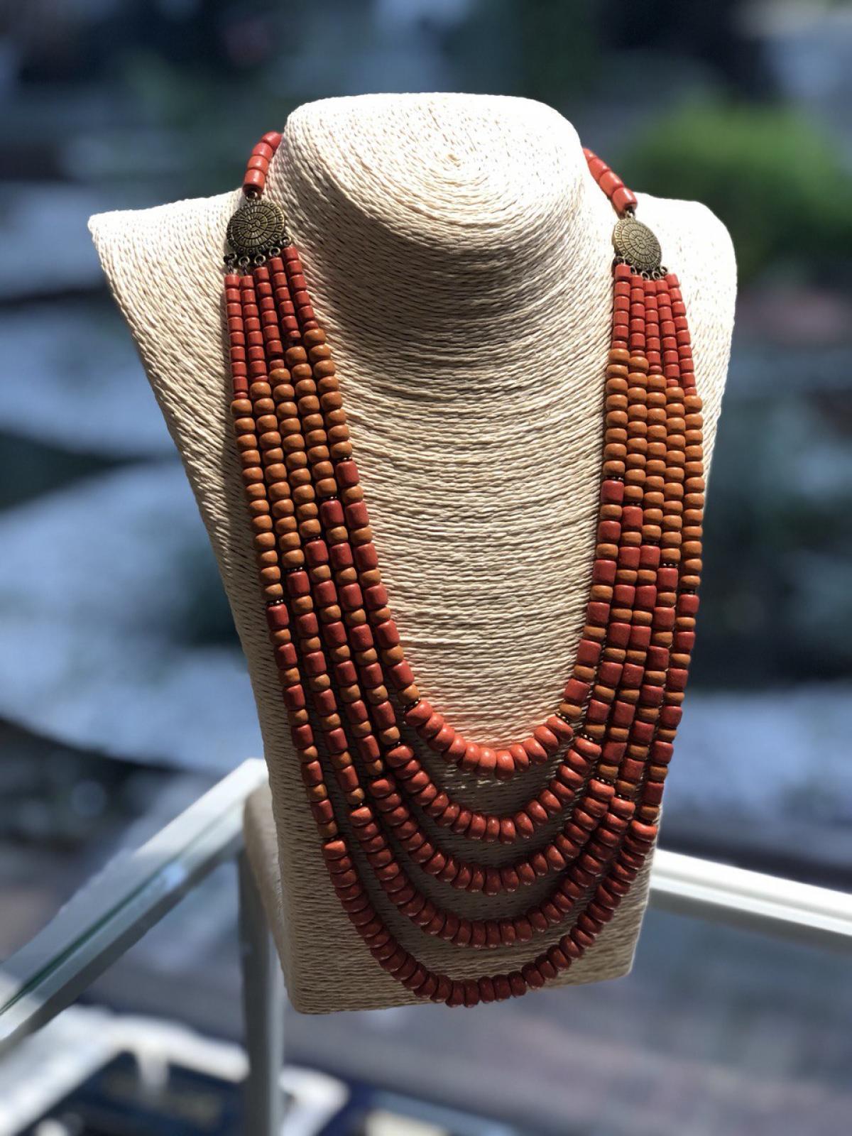 Ожерелье керамическое, 5 рядов,. Фото №2. | Народный дом Украина