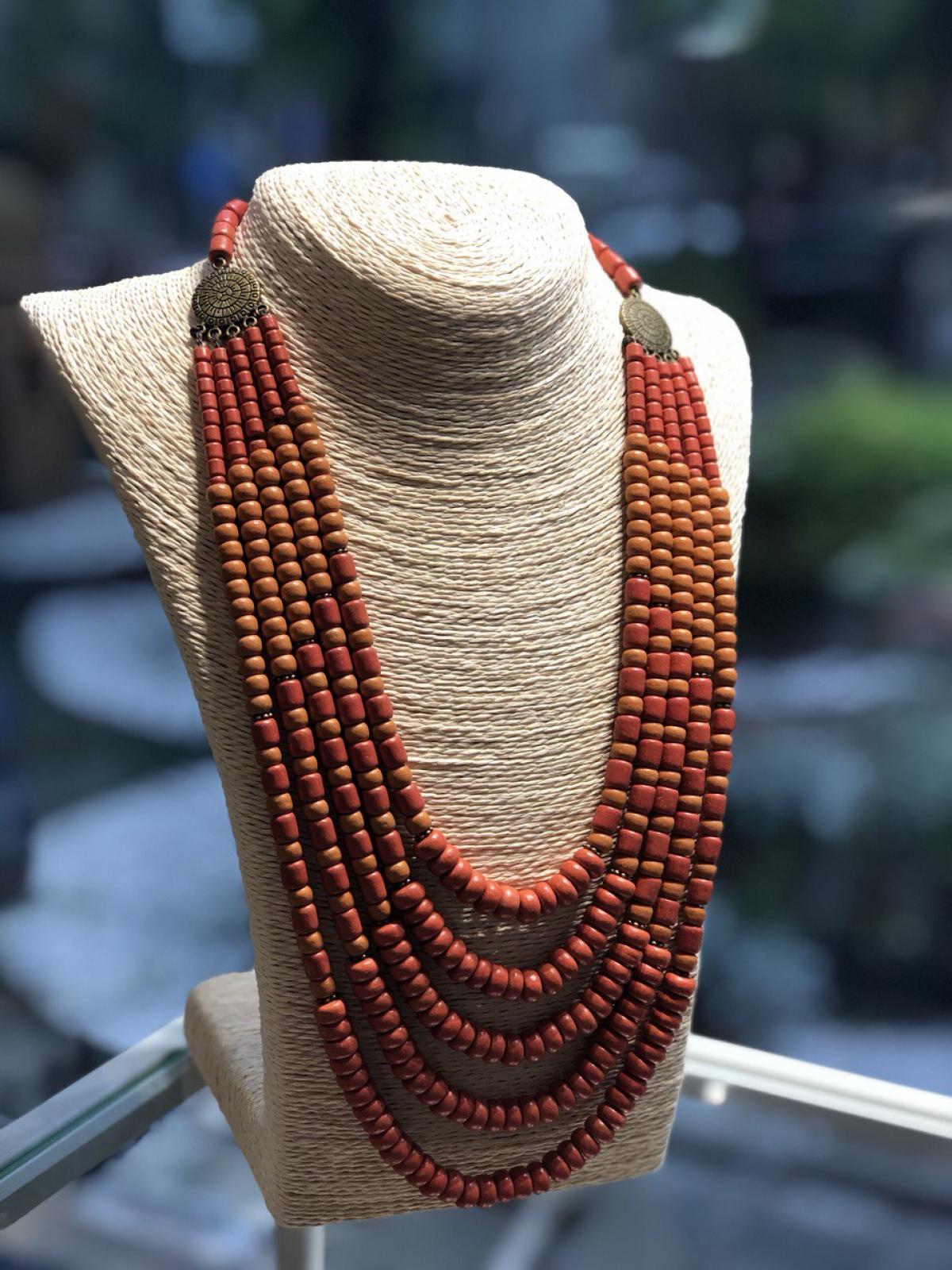 Ожерелье керамическое, 5 рядов,. Фото №3. | Народный дом Украина