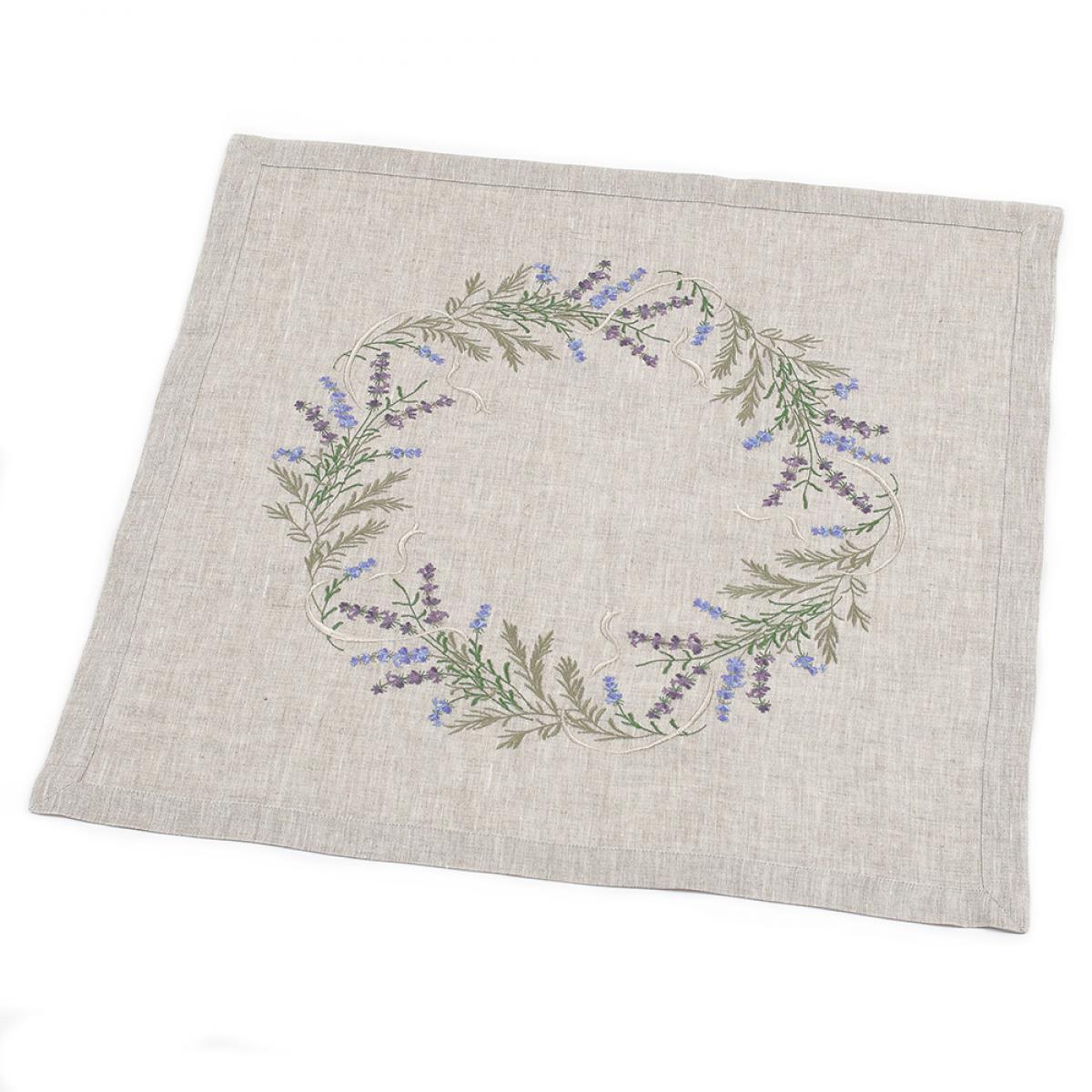 "Tabletcloth linen  ""Lavender"" 65 * 65 cm"