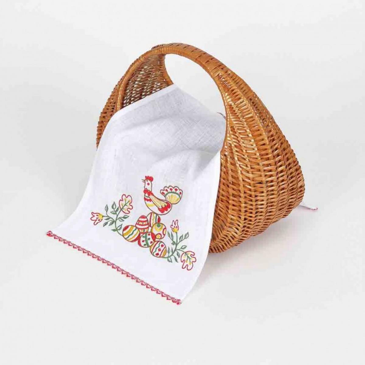 Вышитая салфетка на корзину Писанки 65 * 33. Фото №2. | Народный дом Украина