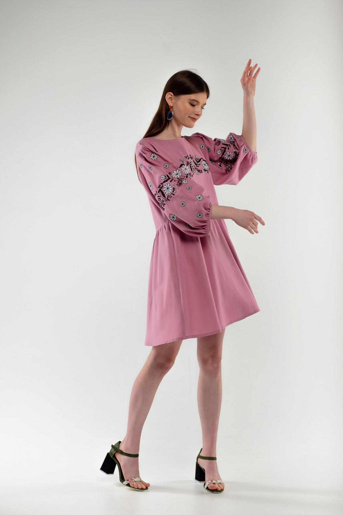 Платье вышиванка Кукушка пудра. Фото №1. | Народный дом Украина
