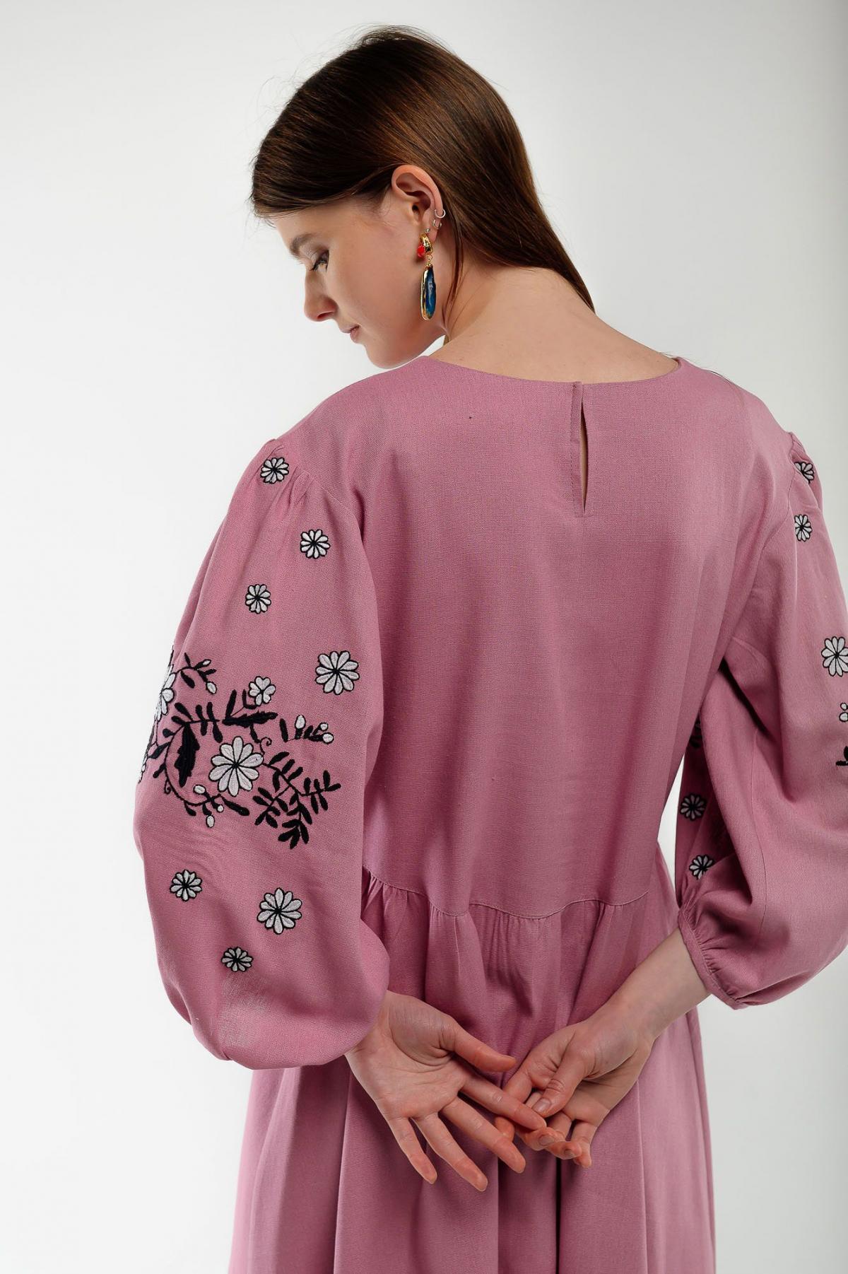 Платье вышиванка Кукушка пудра. Фото №4. | Народный дом Украина