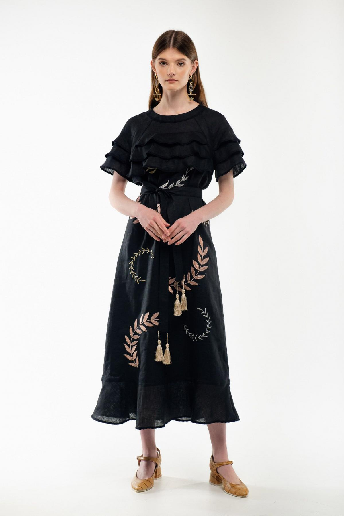 Embroidery dress black Miss. Photo №2. | Narodnyi dim Ukraine