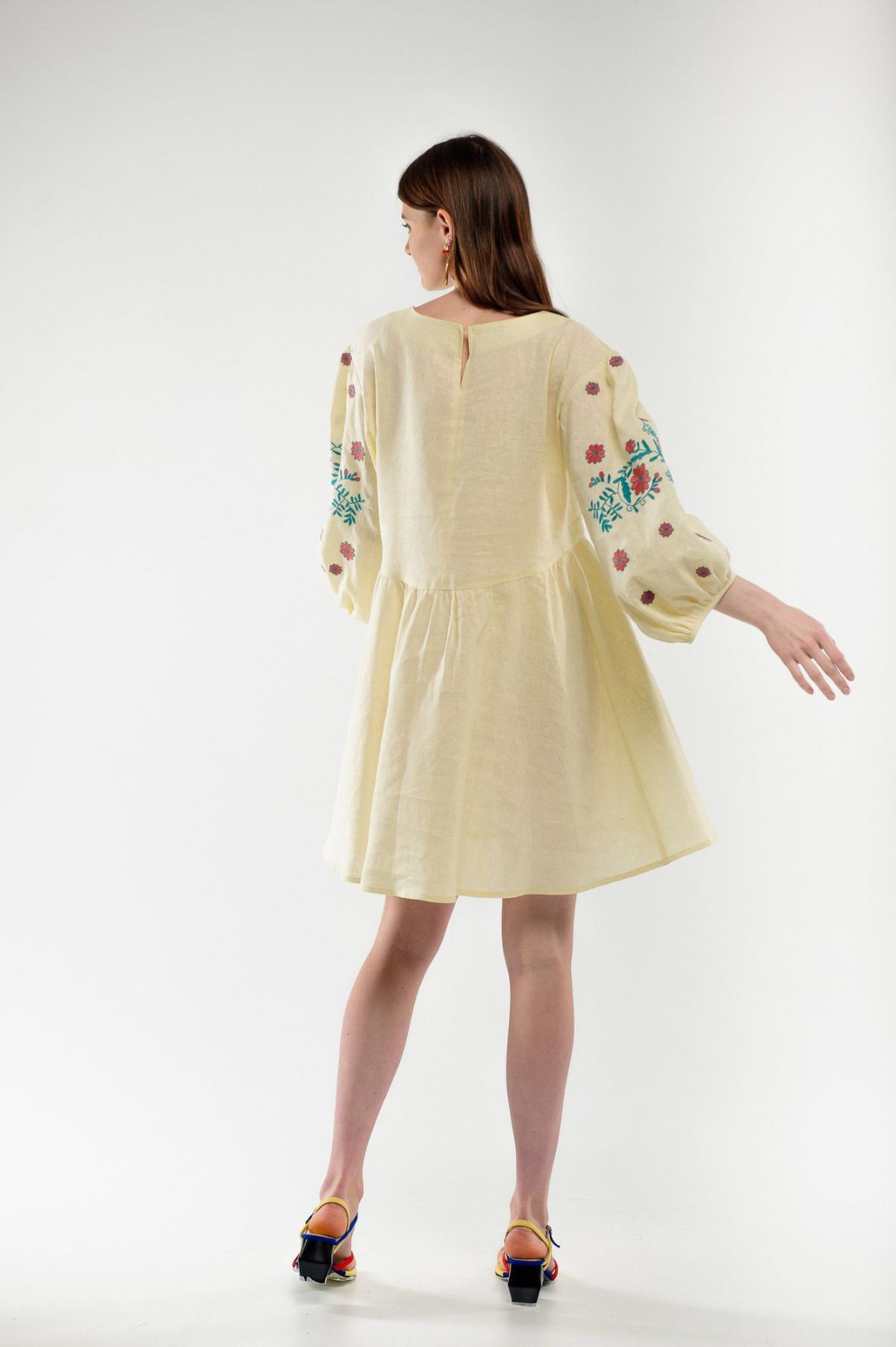 Dress embroidered cuckoo yellow. Photo №2. | Narodnyi dim Ukraine