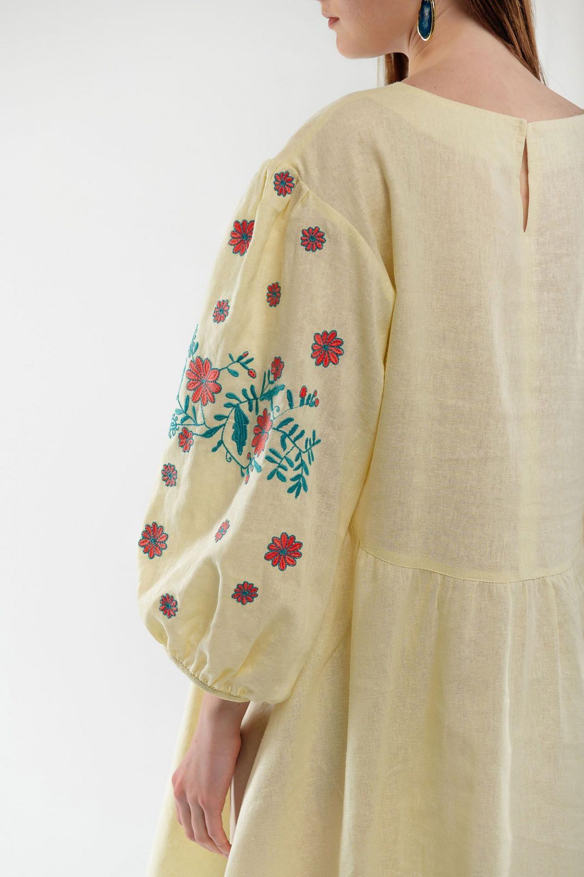 Dress embroidered cuckoo yellow. Photo №4. | Narodnyi dim Ukraine