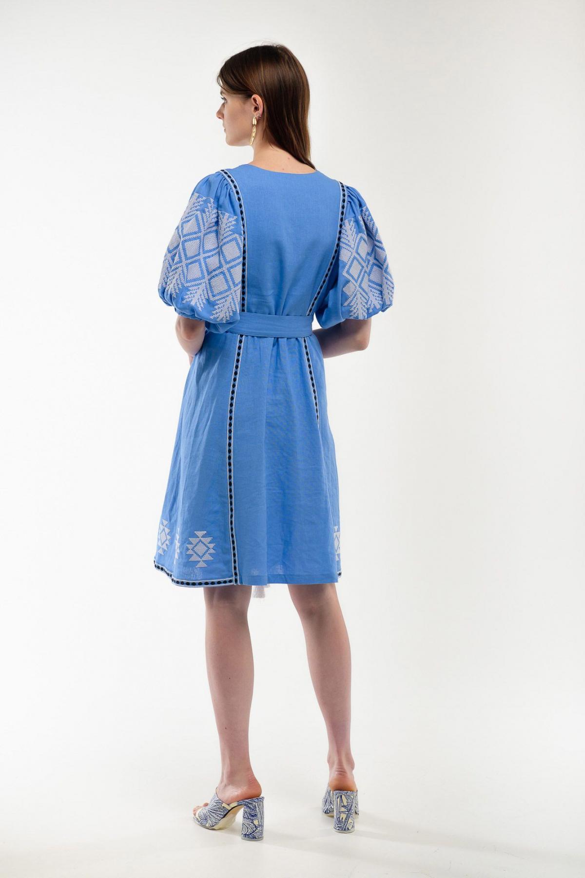 Платье вышиванка Милося голубое. Фото №5. | Народный дом Украина