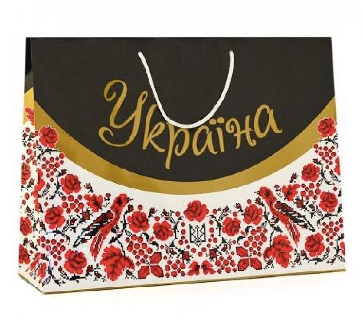 Пакет подарунковий Україна  - 30 х 40 см
