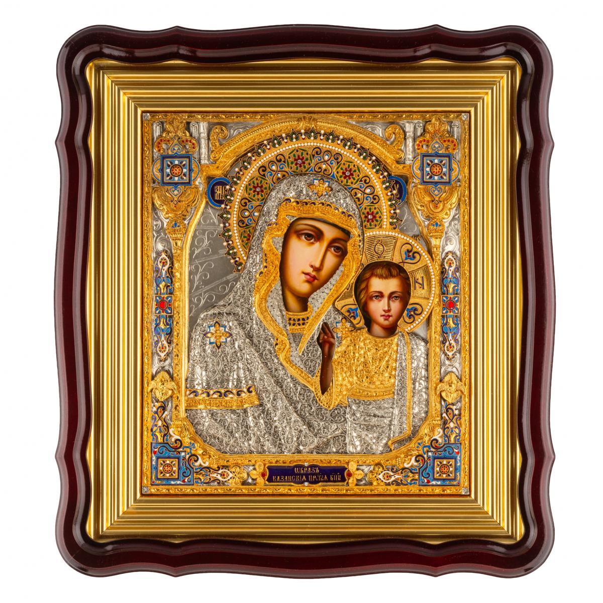 Эксклюзивная икона Божией Матери Казанская. Фото №2. | Народный дом Украина