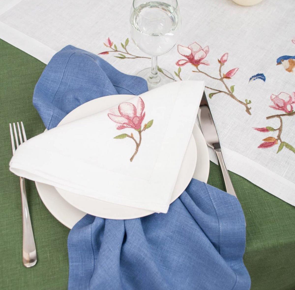 "Linen set of napkins for the table  ""Magnolia"" 2 pcs"