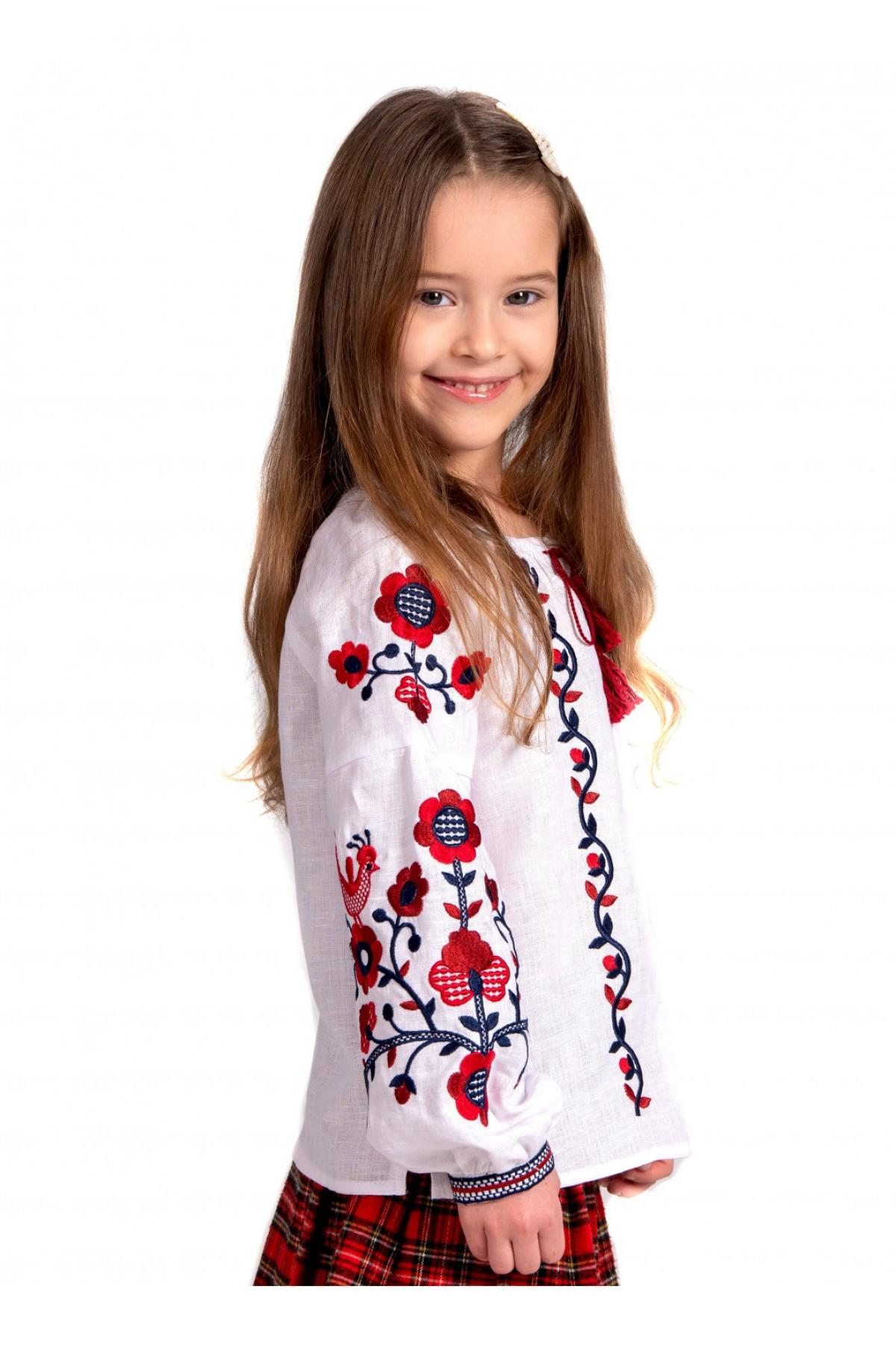 Embroidery for a girl white with red embroidery. Photo №4. | Narodnyi dim Ukraine
