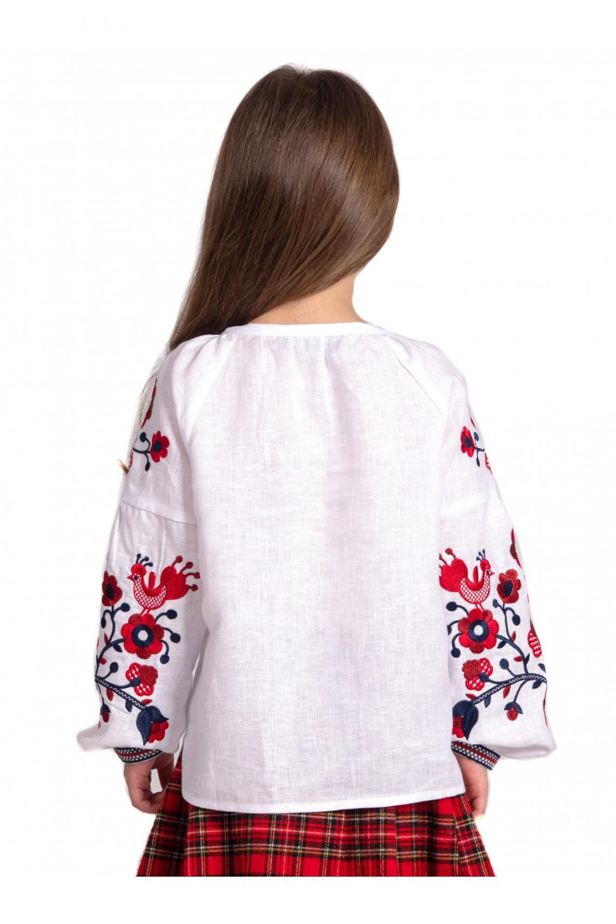 Embroidery for a girl white with red embroidery. Photo №5. | Narodnyi dim Ukraine